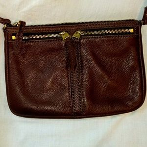 Fossil Brown Cowhide Leather Crossbody Bag